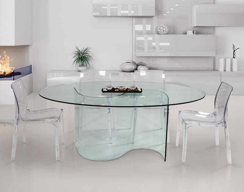 09abitare giovane tavoli cucine lube roma dfg arredamenti - Tavolo vetro ovale ...